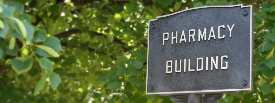 Pharmacy building sign