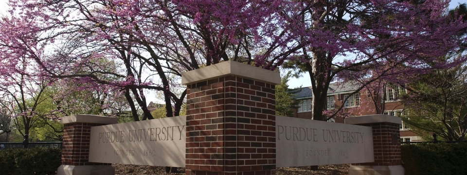 image of Purdue University sign
